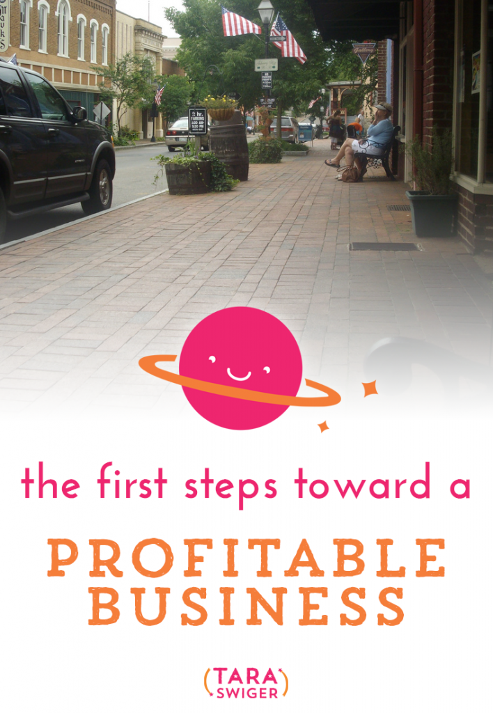 First Steps toward a profitable business