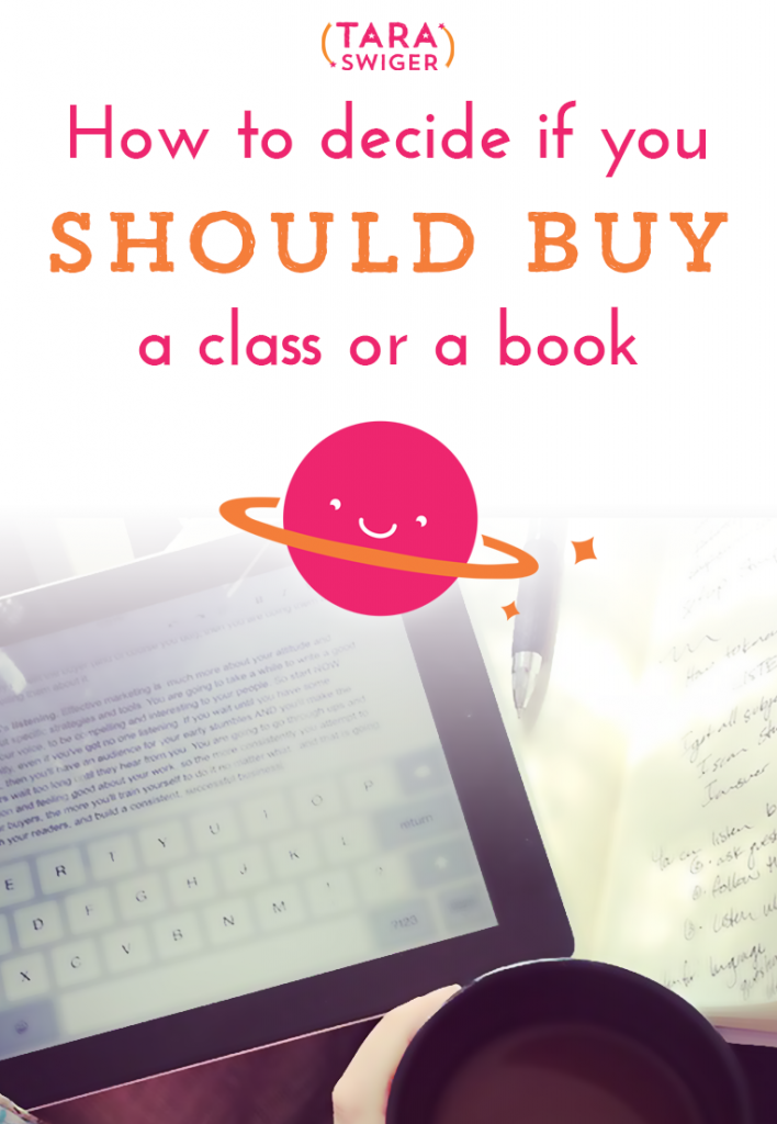 How to decide if you should buy a class or a book
