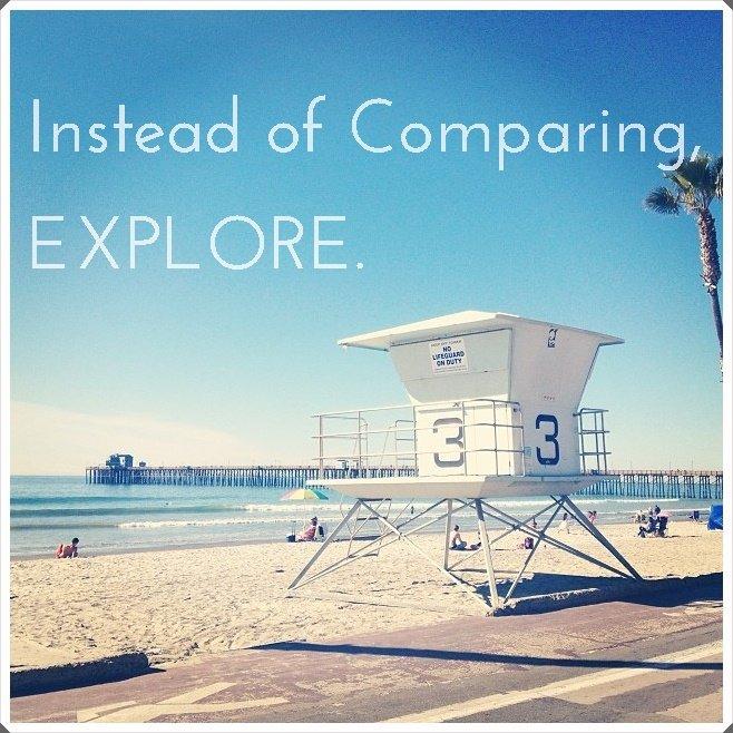 instead of comparing explore