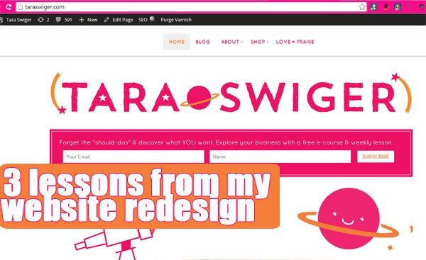 3 lessons for website redesign