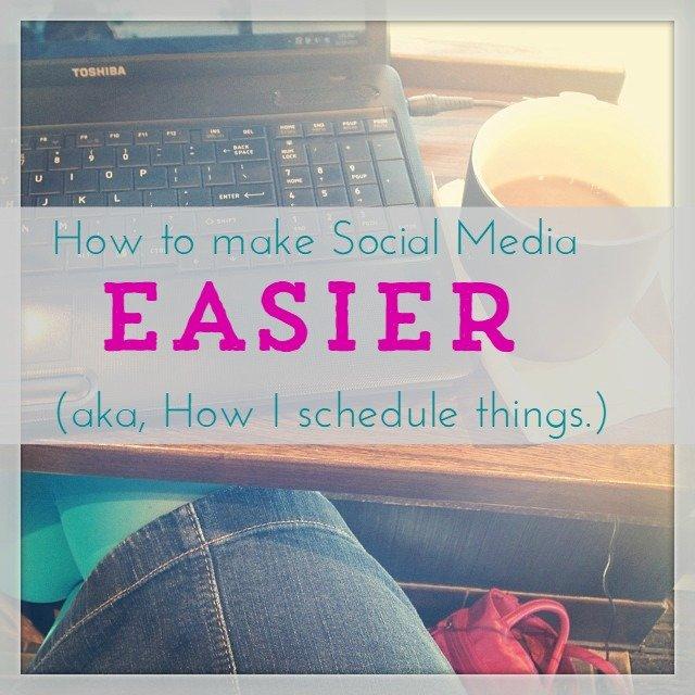 How to make social media easier