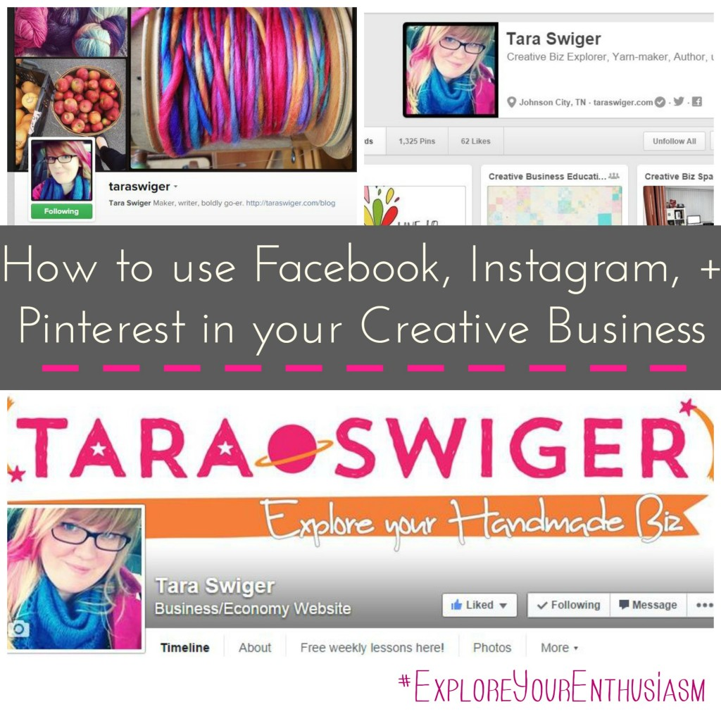 How to use Facebook Instagram and Pinterest in your Creative Biz