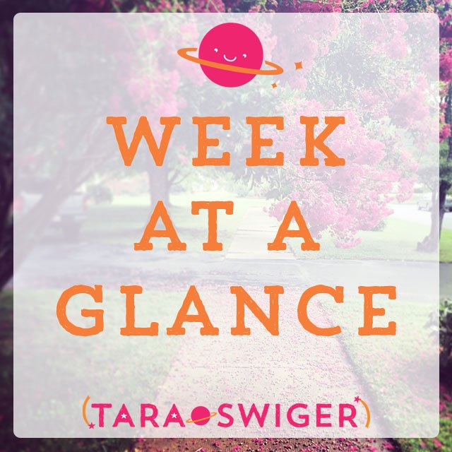 "Get your FREE ""Week at a Glance"" planning sheet to help you prioritize your To Do list, focus only on what really matters, and Get More Done in your business! At TaraSwiger.com."