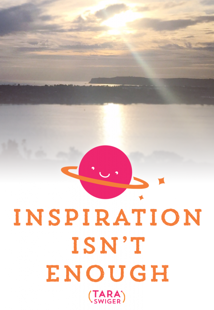 Inspiration isn't enough. In fact, on its own, it can be dangerous. Today we're talking about the power, magic, and challenge of Inspiration. Listen in at https://taraswiger.com/podcast92/