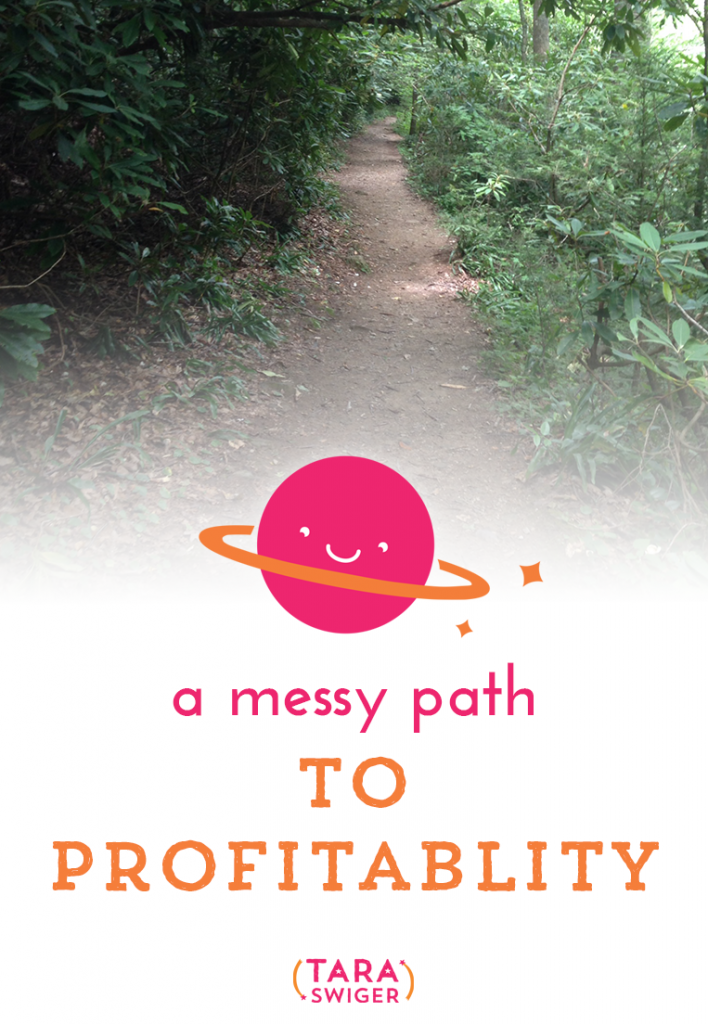 A messy path to profitability