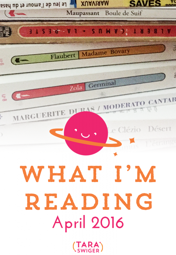 What are YOU reading this month? I'm sharing my list of April reads on the blog, at TaraSwiger.com. Come and read my mini-reviews and leave recommendations of YOUR favorite books!