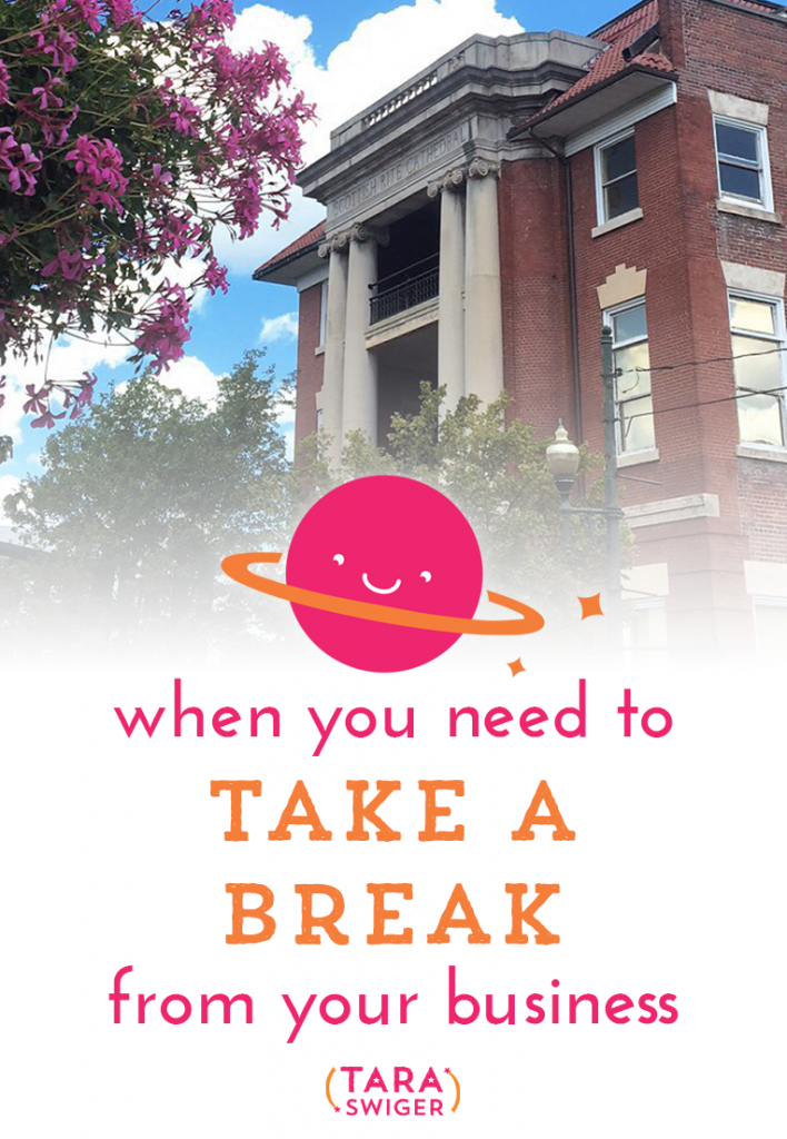You're going to need a break in your business. It's unavoidable. It's part of being a human being, in a fallible body. You'll need to step back or scale down when you're sick, when your family is sick, or worse. But when you need to take a break, when something important happens in your life that needs all your focus, it's easy to take the short term view, instead of looking at the long view of your life and career. The short view is: This thing came up, I need to deal with it- I'll put everything in my biz on hold.And look, I get it. When something sideswipes you, you go into short-term problem solving. And that makes sense for extracurricular activities. Maybe you quit book club or you stop teaching Sunday school. Maybe you cut back on expenses like stash enhancement or kit clubs or eating out. But if you're serious about your biz- then it is not an expense to cut or an extracurricular. It's a part of your income and your mental health. It's the thing that brings you joy or peace or a sense of self-reliance. It probably challenges you & pushes you, but if you want to have it in the future, you gotta take the long view. Listen in at TaraSwiger.com/podcast132/