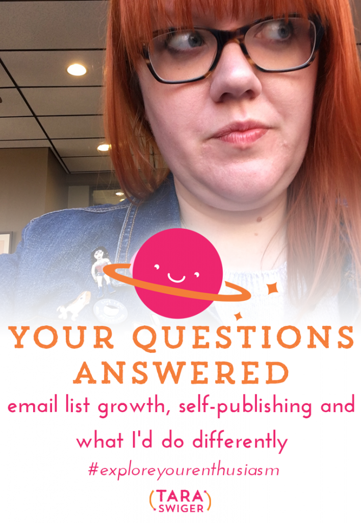 Get YOUR questions answered: self-publishing a book, growing your email list, and advice on building your crafty biz!