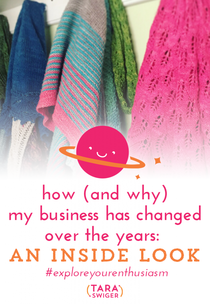 Businesses evolve over time. Over 11 years of owning and running a creative biz, mine has evolved a lot, but the core message has always remained the same. Learn how (and why) my creative business has changed over the years, and get a peak inside how I do thinks at TaraSwiger.com/podcast168/