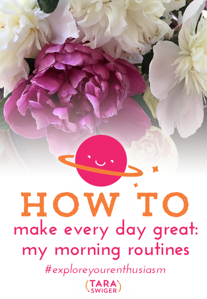 Your happiness is one of the keys to success in your creative busness. Learn how to set up your day to be a great day, every day at TaraSwiger.com/podcast166