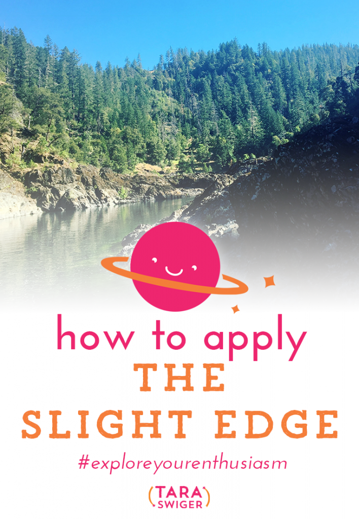 This Slight Edge by Jeff Olson is all about making slight changes to your daily choices to bring more happiness and success into your life. On this episode of Explore Your Enthusiasm, I talk all about applying the principles of The Slight Edge to your creative business, listen in at TaraSwiger.com/podcast174