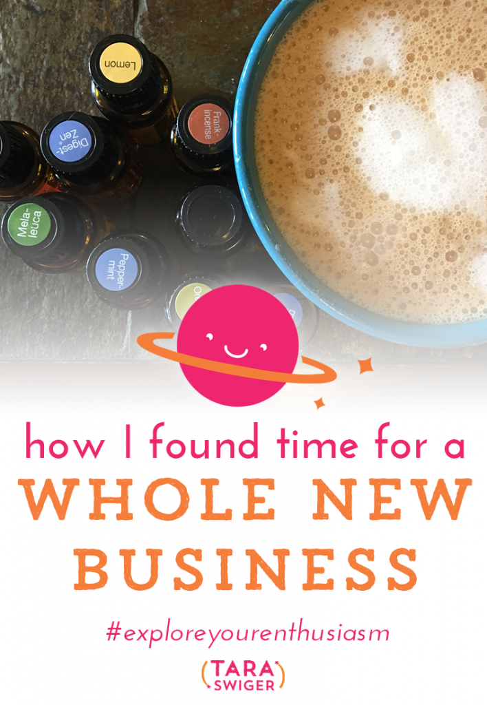 Finding time for a new venture when you already have one successful creative biz can sometimes feel impossible. But it's not! Find out how I created time to start a whole second business on this episode of Explore Your Enthusiasm at: TaraSwiger.com/podcast178