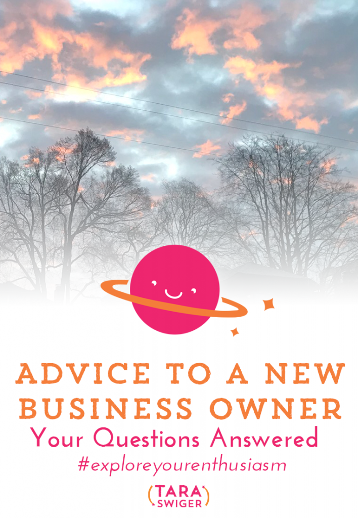 Starting a creative business is never easy, and you're bound to run into a few bumps along the way. Learn all about the advice I would give myself as a new business owner at TaraSwiger.com/podcast203