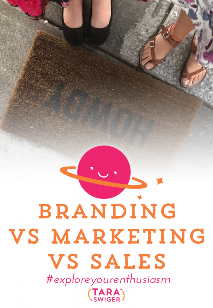 It's not enough to just focus on marketing, or just on branding. You need branding plus marketing plus sales to make a creative business thrive. Learn more about the difference and how to rock all three at TaraSwiger.com/podcast219