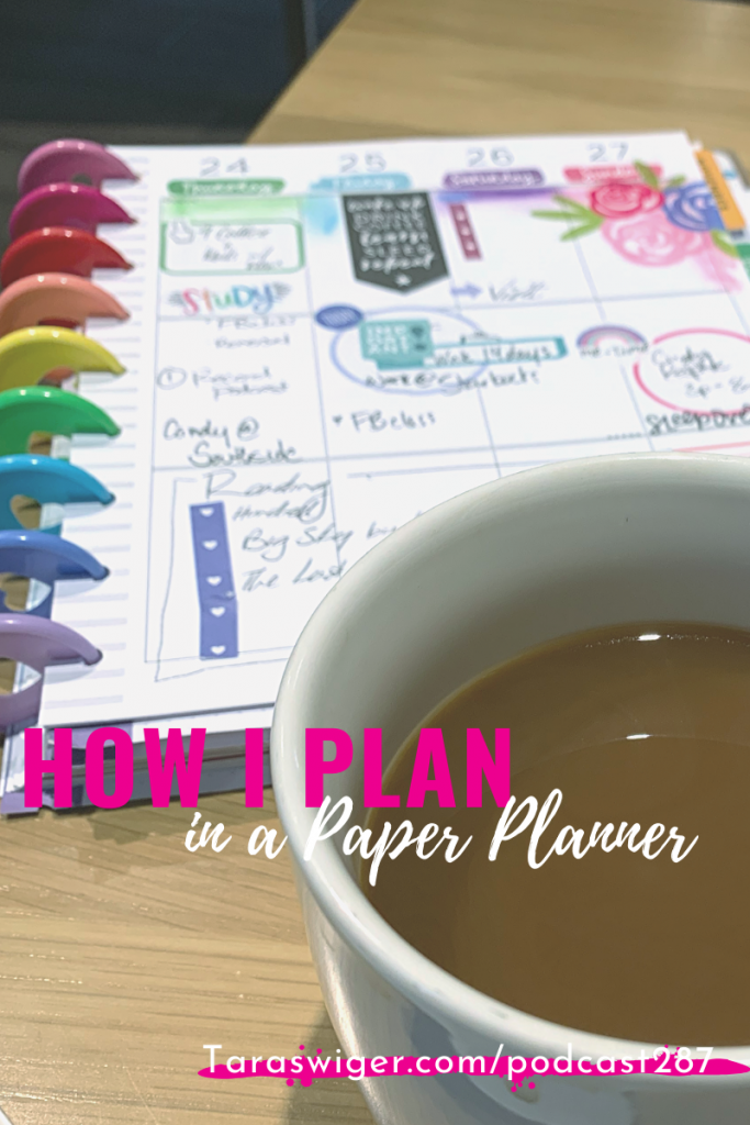 When you run a creative business, keeping track of your projects & to-dos is VITAL to getting anything done! Learn how I use paper planners to help me keep track of my week at TaraSwiger.com/podcast287
